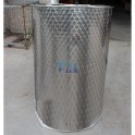SMALL STAINLESS TANK 300 LITERS FLAT BOTTOM WITHOUT LID