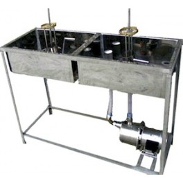 DOUBLE CUBE WITH TWO PIPES (1 + 1) WITH PUMP