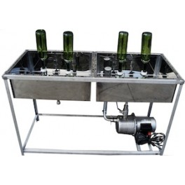 DOUBLE CUBES WITH FOUR  PIPES (2 + 2) WITH PUMP