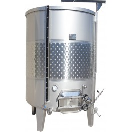 STAINLESS STEEL TANK ALWAYS FILLED 2.500 LITERS FUND INCLINED 5%