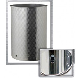 SMALL STAINLESS TANK 800 LITERS FLAT BOTTOM DUST COVER