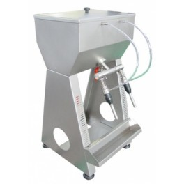 SEMIAUTOMATIC INOX FILLER TWO-SPOUTS DESKTOP VERSION FOR FILLING GRAVITY