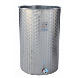 SMALL TANK STAINLESS 1000 LITERS FUND PLANO ALWAYS FULL