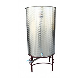 1000 LITER STAINLESS STEEL TANK WITH FULL CONICAL FILLED ALWAYS FULL