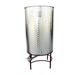 DIPÒSIT PETIT INOX 300 litres FONS CÒNIC TAPA POLS