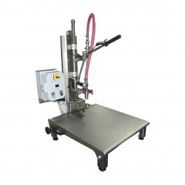 BAG-IN-BOX SEMIAUTOMATIC V12 FILLER WITH SUPPORT SURFACE