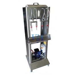 SEMIAUTOMATIC STAINLESS FILLER HIGH VERSION FOR BOTTLES, 2 SPOUTS AND FILLED BY PUMP AND PROBE